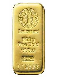 500 GRAM Gold Bar 999.9 pure